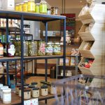 Shelves filled with jars from Relish Market