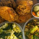 A dish prepared by Saint Crispy's Chicken